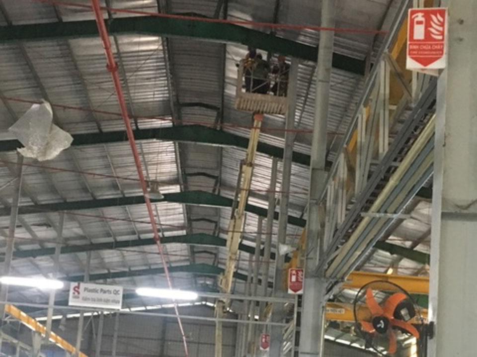 Dịch vụ vệ sinh nhà xưởng quận Bình Tân